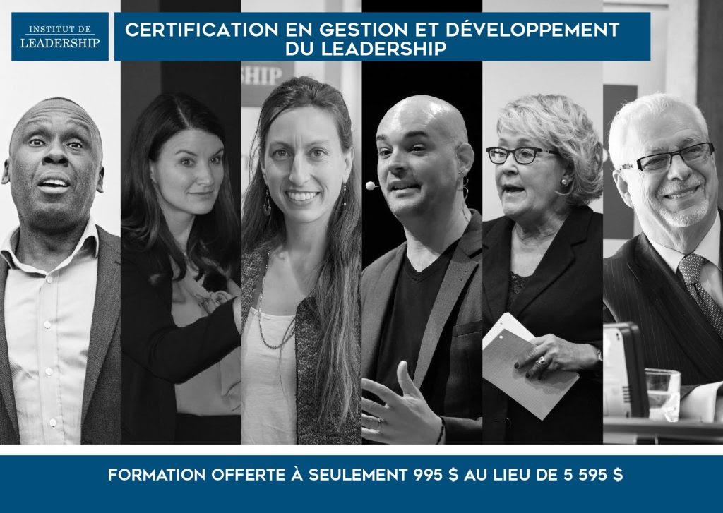Certification en gestion et développement du leadership
