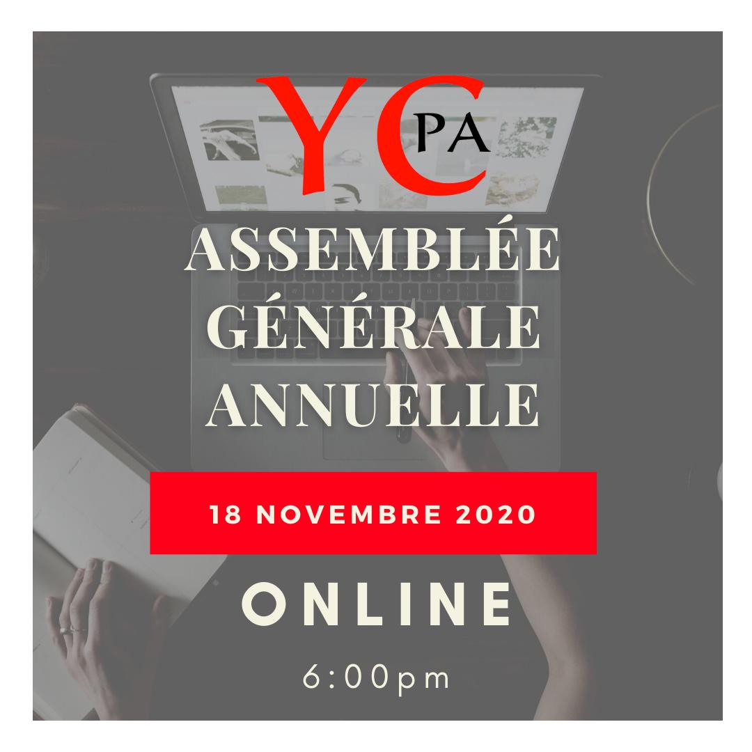 Élections et Assemblée générale annuelle 2020 - YCPA