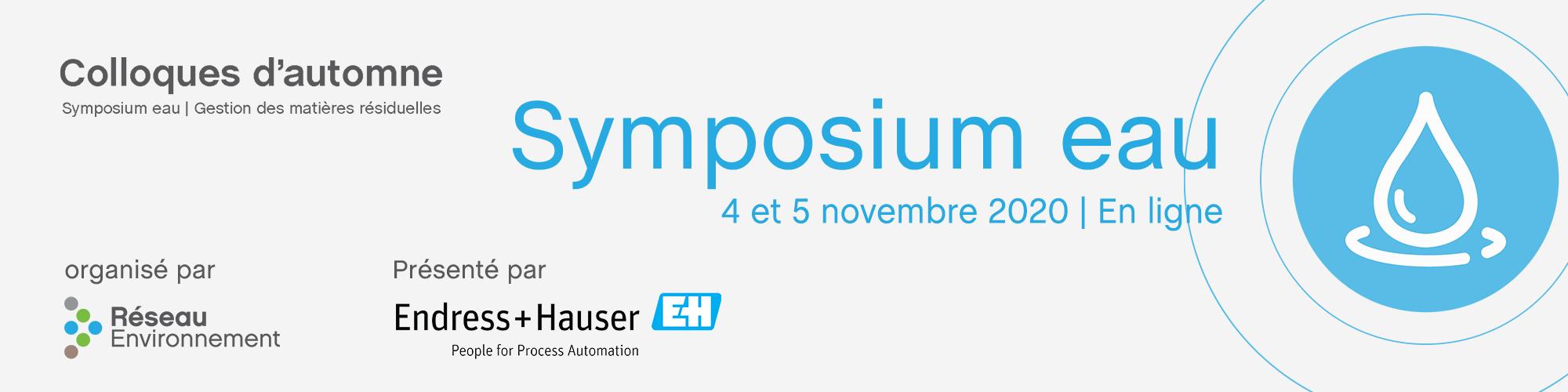 Colloques d'automne 2020 - Symposium eau