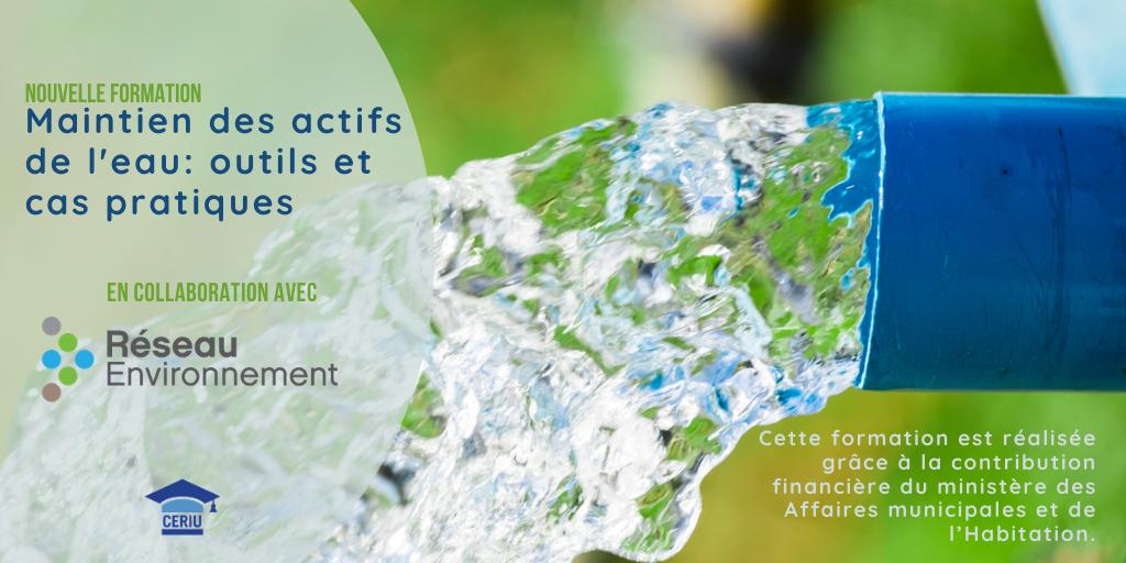 Webinaires Formation - Maintien des actifs de l'eau : outils et cas pratiques