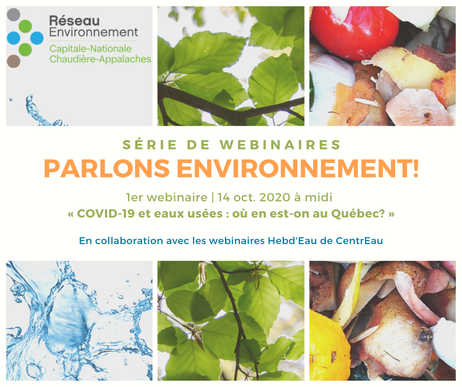 Webinaire COVID-19 et eaux usées : où en est-on au Québec?
