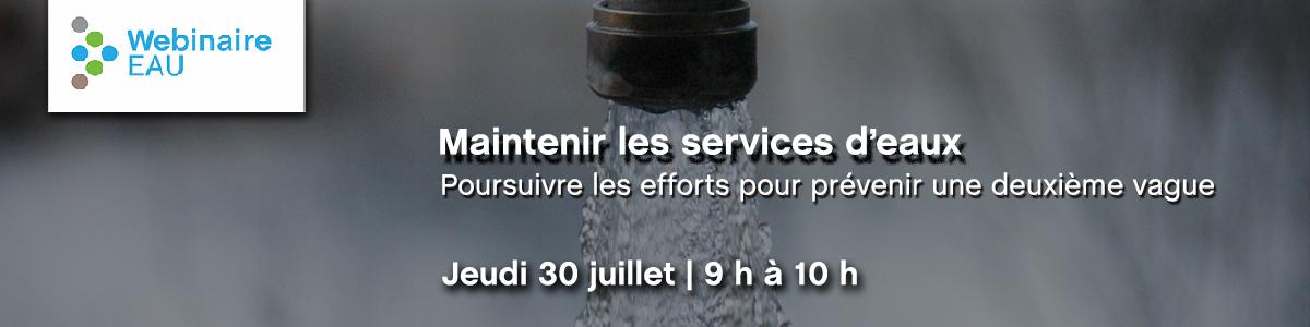 Maintenir les services d'eaux