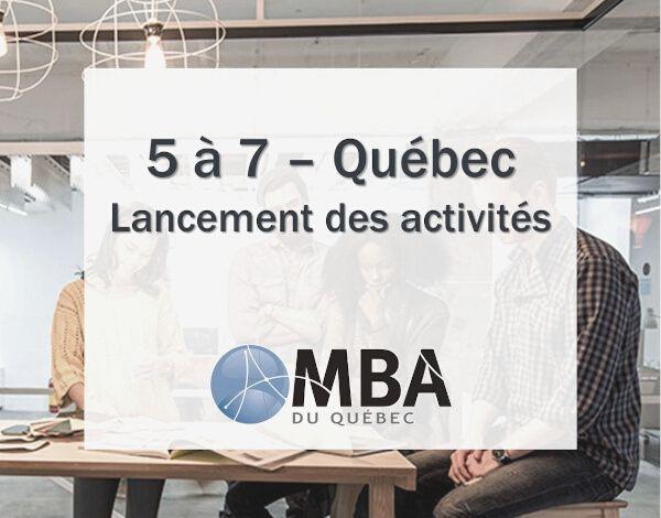 5 à 7 Lancement des activités de l'AMBAQ Québec chez Levio