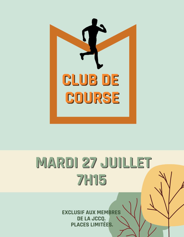 Club de course - 27 juillet