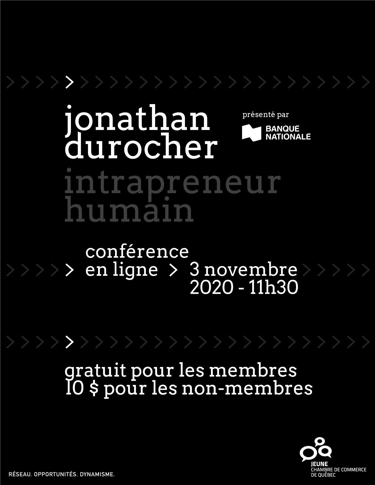 Jonathan Durocher : intrapreneur humain