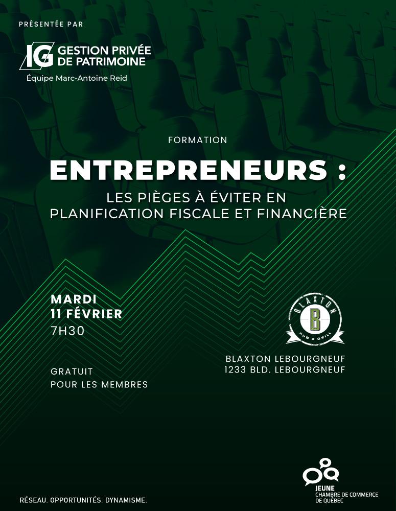 Entrepreneurs : Les pièges à éviter en planification fiscale et financière