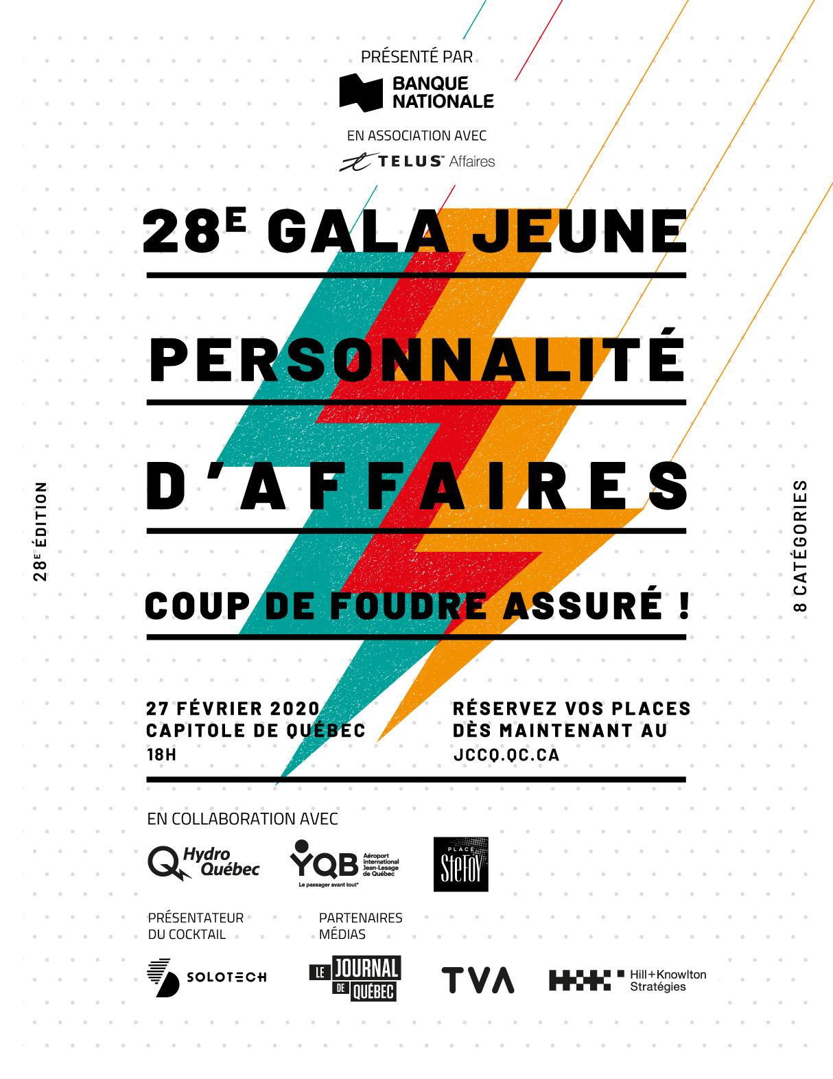 28e Gala Jeune Personnalité d'Affaires Banque Nationale