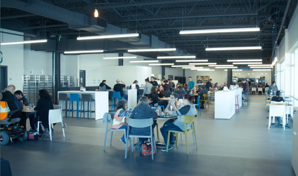 Maquette de la future cafétéria