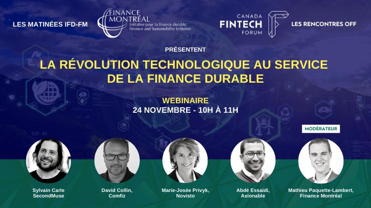 Webinaire « La révolution technologique au service de la finance durable »