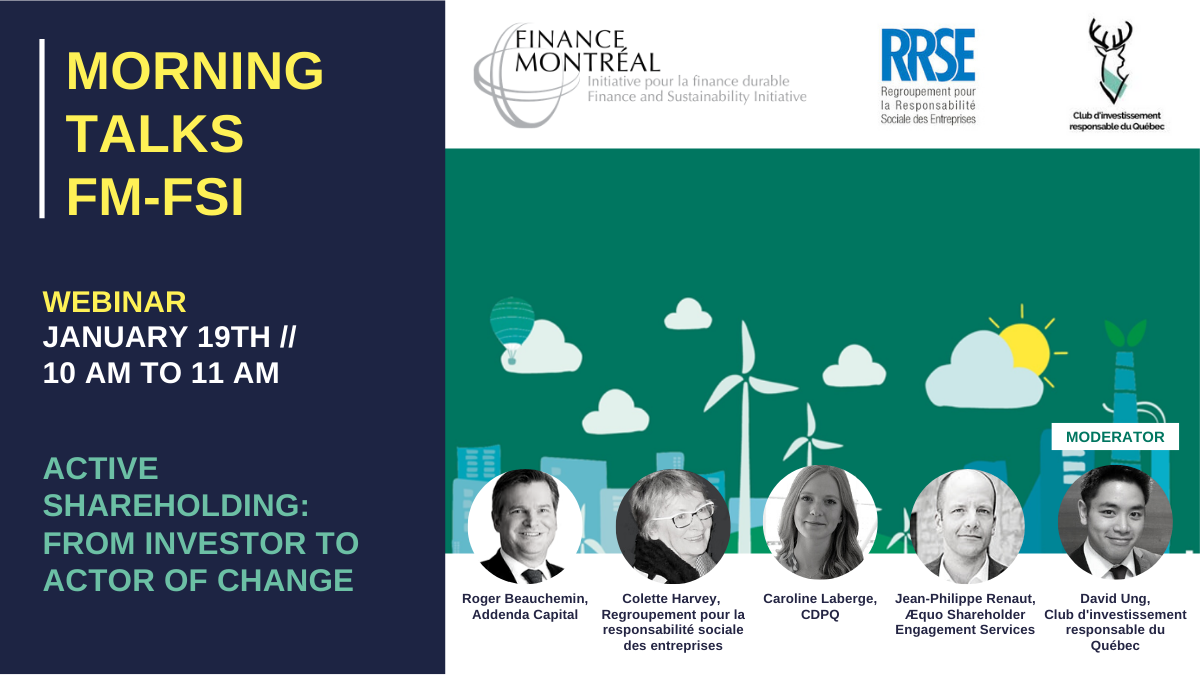 Webinar «Active shareholding: from investor to actor of change»