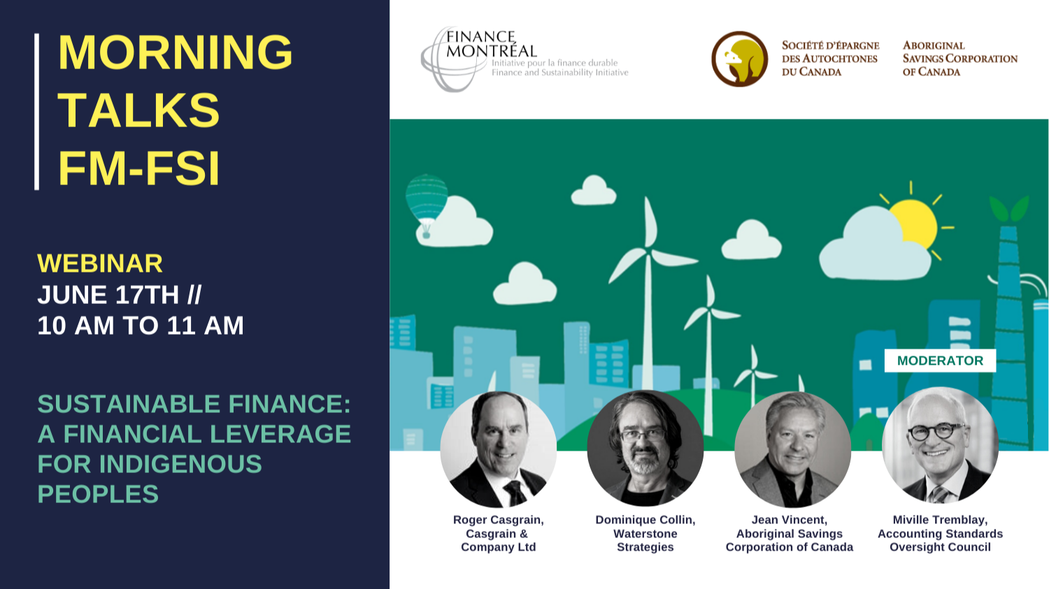 Morning Talks FM-FSI - « Sustainable finance: A financial leverage for indigenous peoples »