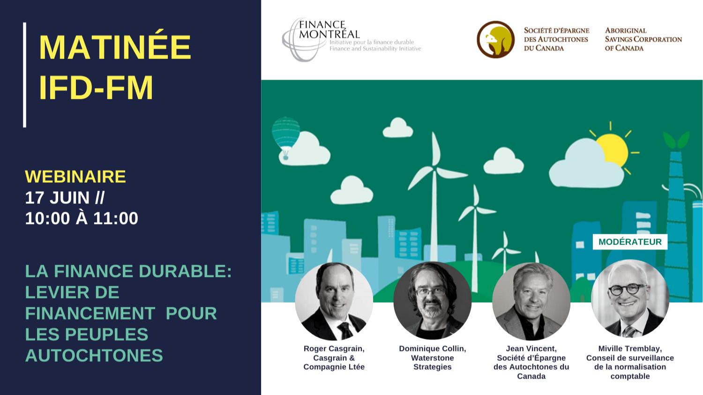 Matinée IFD - « La finance durable: levier de financement pour les peuples autochtones »