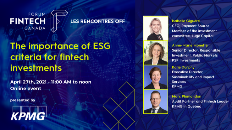 The importance of ESG criteria for fintech investments