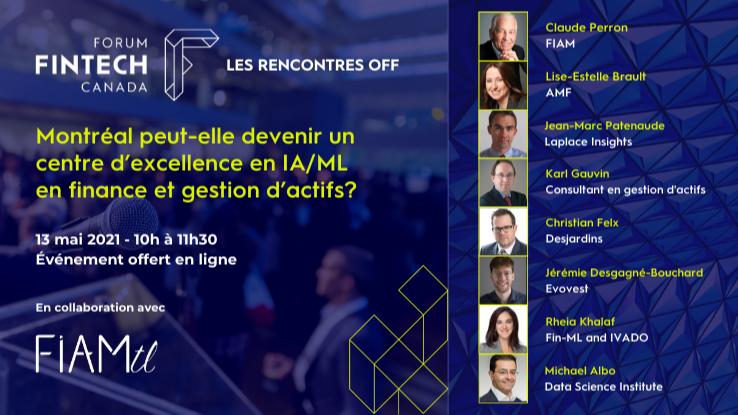 Webinaire «Montréal peut-elle devenir un centre d'excellence en IA/ML  en finance et gestion d'actifs?»