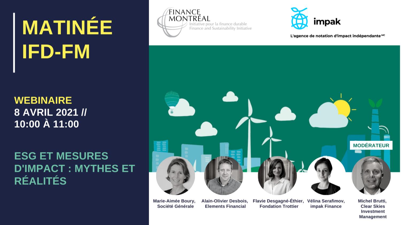 Matinée IFD - « ESG et mesures d'impact : mythes et réalités »