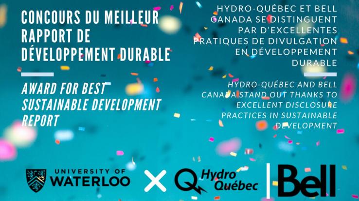 Hydro-Québec et Bell Canada se distinguent par d'excellentes pratiques de divulgation en développement durable