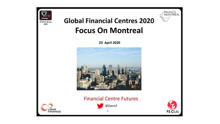 Présentation de l'avantage concurrentiel de Montréal en tant que place financière de calibre international
