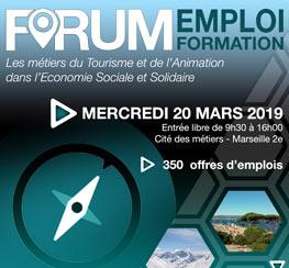 Le Forum Emploi-Formation 2019 (13) : les métiers du Tourisme et de l'Animation dans l'ESS