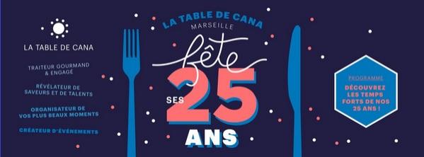 La Table de Cana Marseille fête ses 25 ans