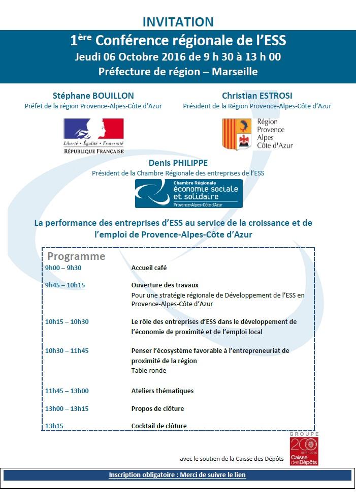 1ère Conférence Régionale des Entreprises de l'ESS