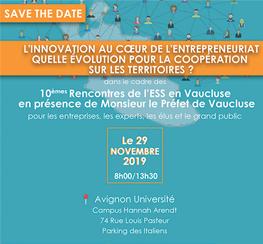 Les 10èmes Rencontres de l'ESS en Vaucluse (84)