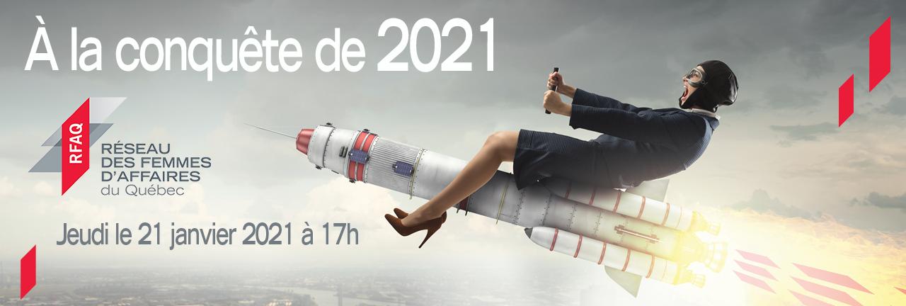 Bannière À la conquête de 2021