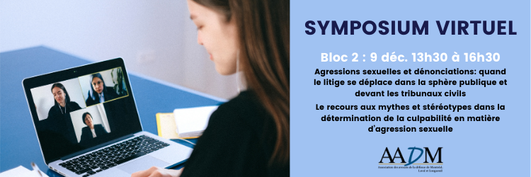 Symposium virtuel : 9 décembre 13h30 (bloc 2)