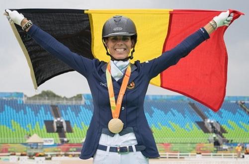 Table des cavaliers avec Michèle George, cavalière paralympique