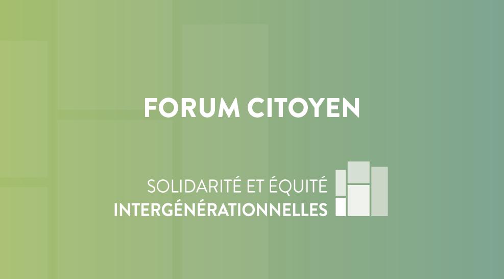 Lévis- Forum citoyen de la Conversation publique sur la solidarité et l'équité intergénérationnelles