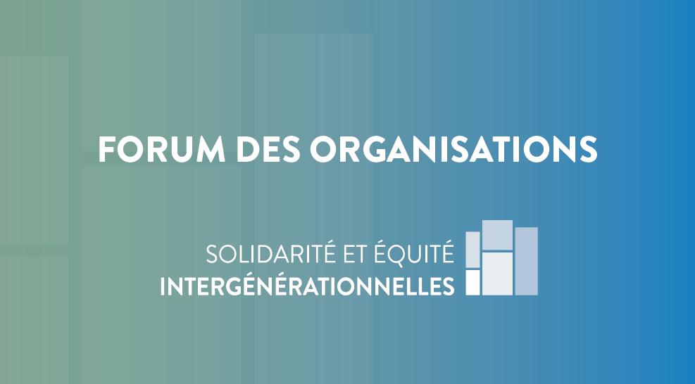 Sherbrooke - Forum des organisations de la Conversation publique sur la solidarité et l'équité intergénérationnelles