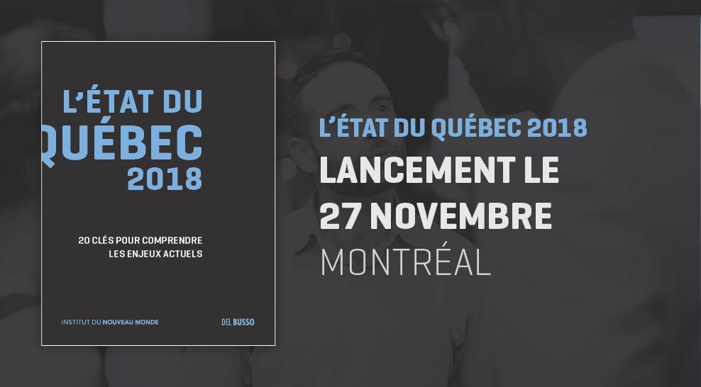 Lancement-bénéfice de L'état du Québec 2018