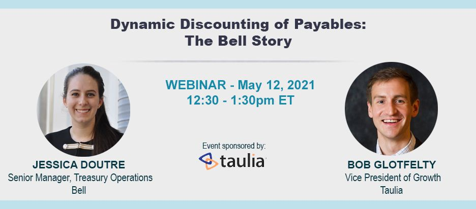 Webinar - Dynamic Discounting of Payables: The Bell Story