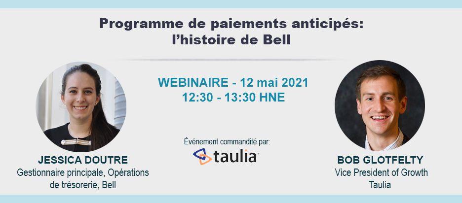 Webinaire - Programme de paiements anticipés: L'histoire de Bell