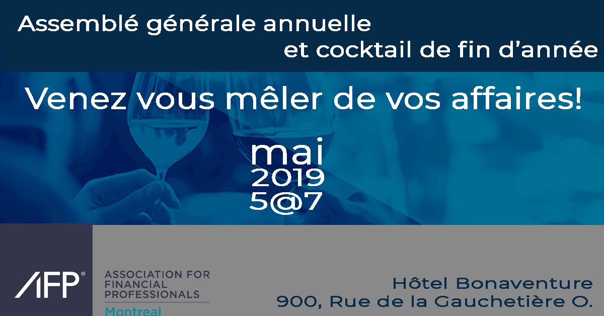 Cocktail de fin d'année et Assemblé générale annuelle