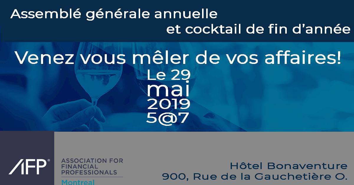 Cocktail de fin d'année et Assemblée générale annuelle