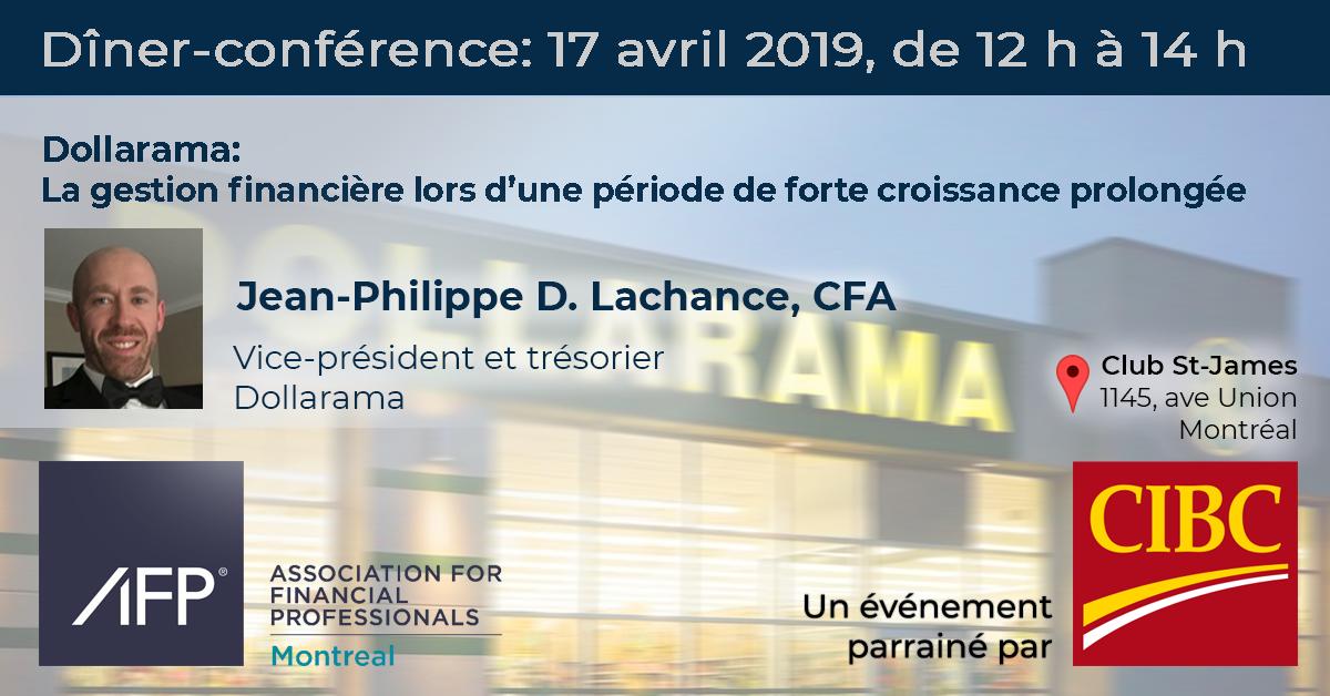 Dîner-conférence - Jean-Philippe D. Lachance, CFA