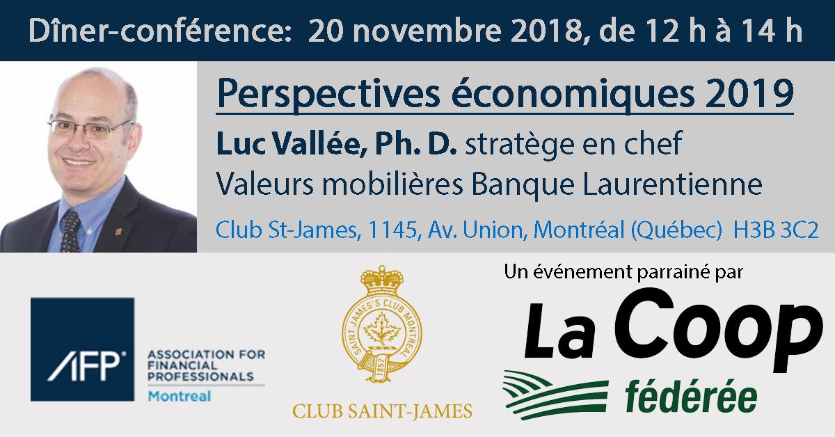 Dîner-conférence - Perspectives économiques 2019