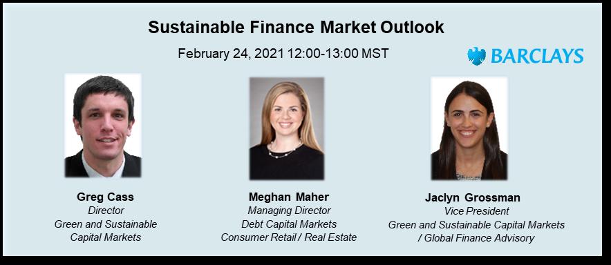 (AFP Calgary) Webinar - Sustainable Finance Market Outlook