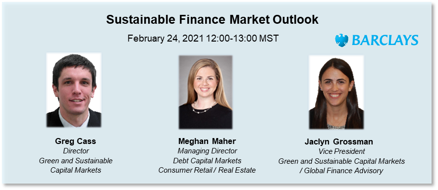 (AFP Calgary) Webinar - Sustainable Finance Market Outlook