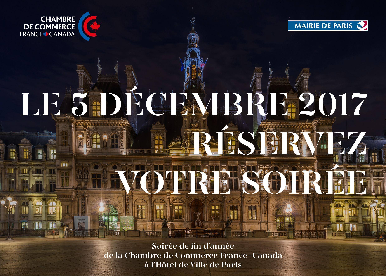 Soirée de fin d'année de la CCFC à l'Hôtel de Ville de Paris