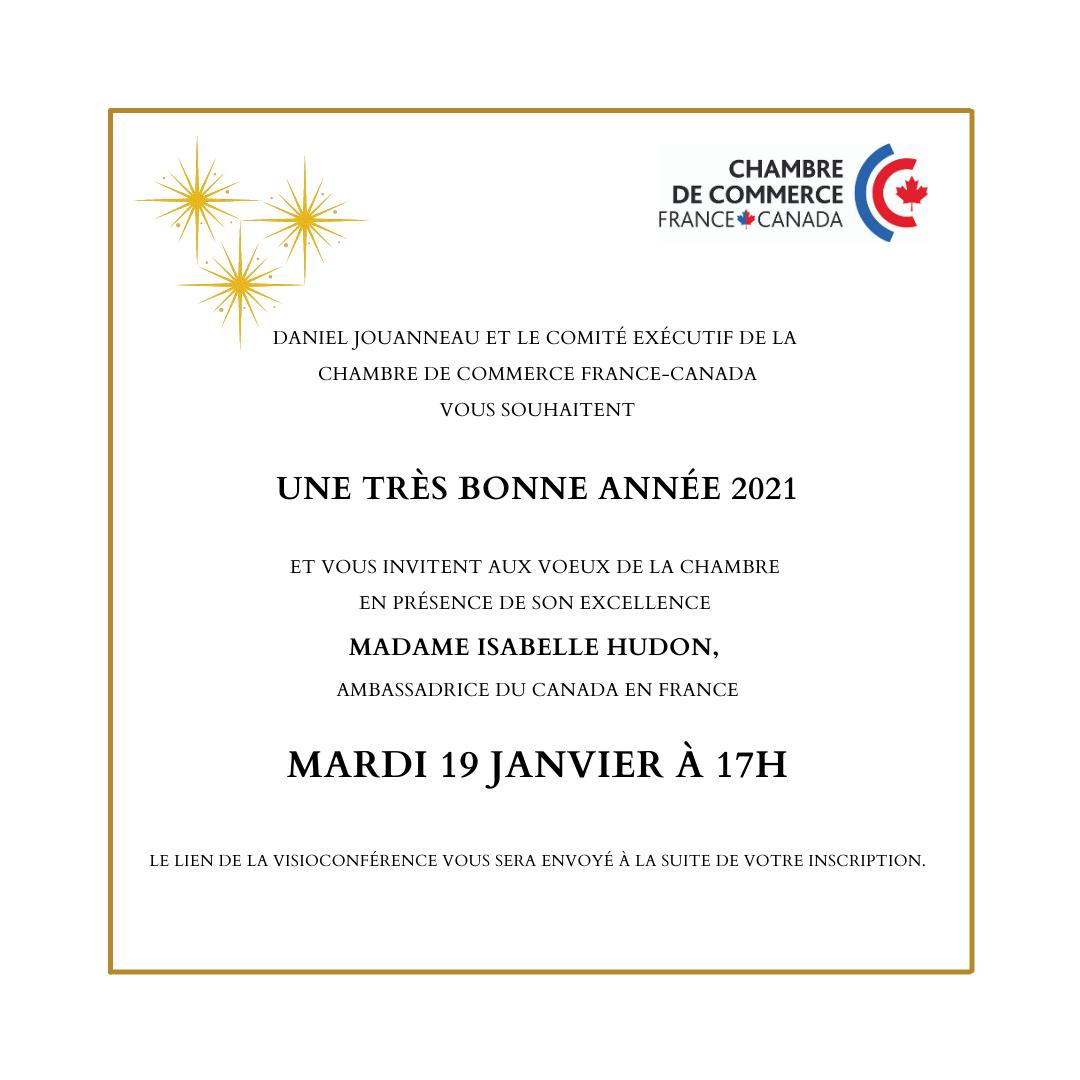 Mardi 19 janvier 2021 Voeux de la Chambre de Commerce France-Canada