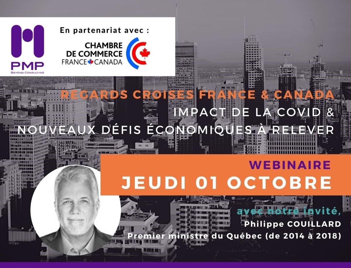 Conférence PMP conseil et CCFC : Regards Croisés France - Canada Impact de la COVID & nouveaux défis économiques à relever