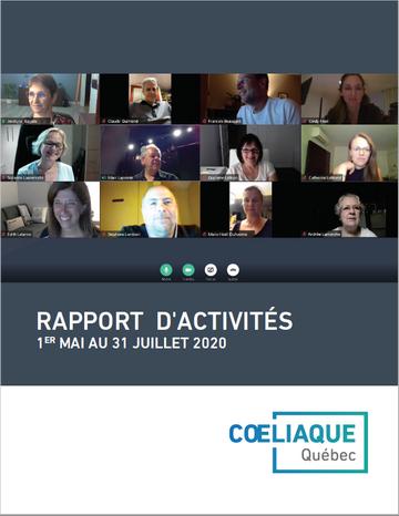 Rapport d'activités 31 juillet 2020
