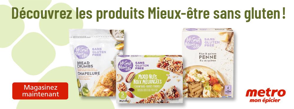 Découvrez les produits Mieux-être sans gluten !