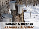 Cabane à sucre SG à Québec (COMPLET)