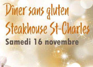 Dîner sans gluten Steakhouse St-Charles